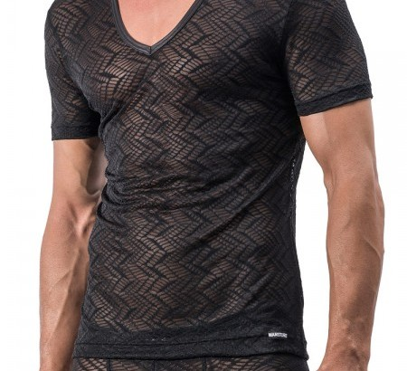 MANSTORE transparentes V-Neck-Shirt